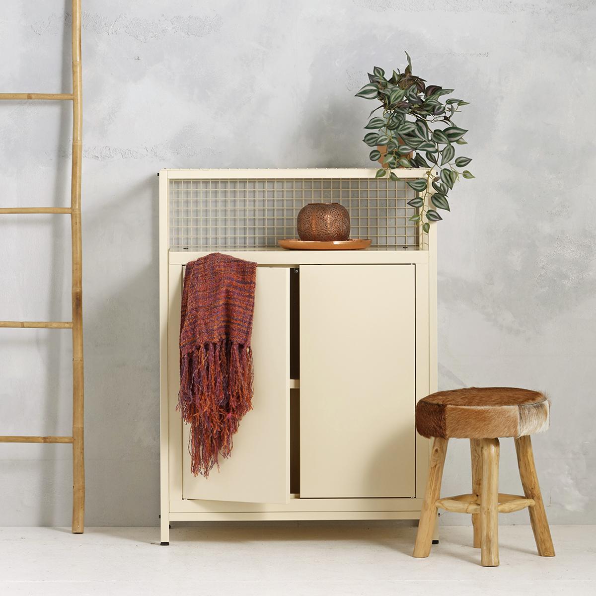 Industrieel dressoir - beige - 115x85.3x44.5 cm - LCS-103