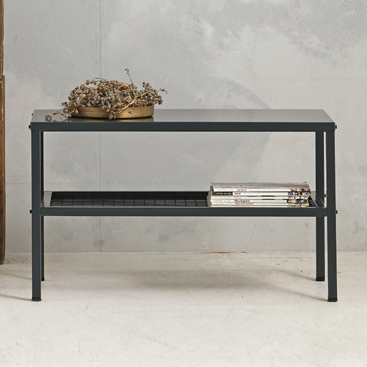 Metalen tafel industrieel - antraciet - 50.2x85.3x44,5 cm - LCS-110