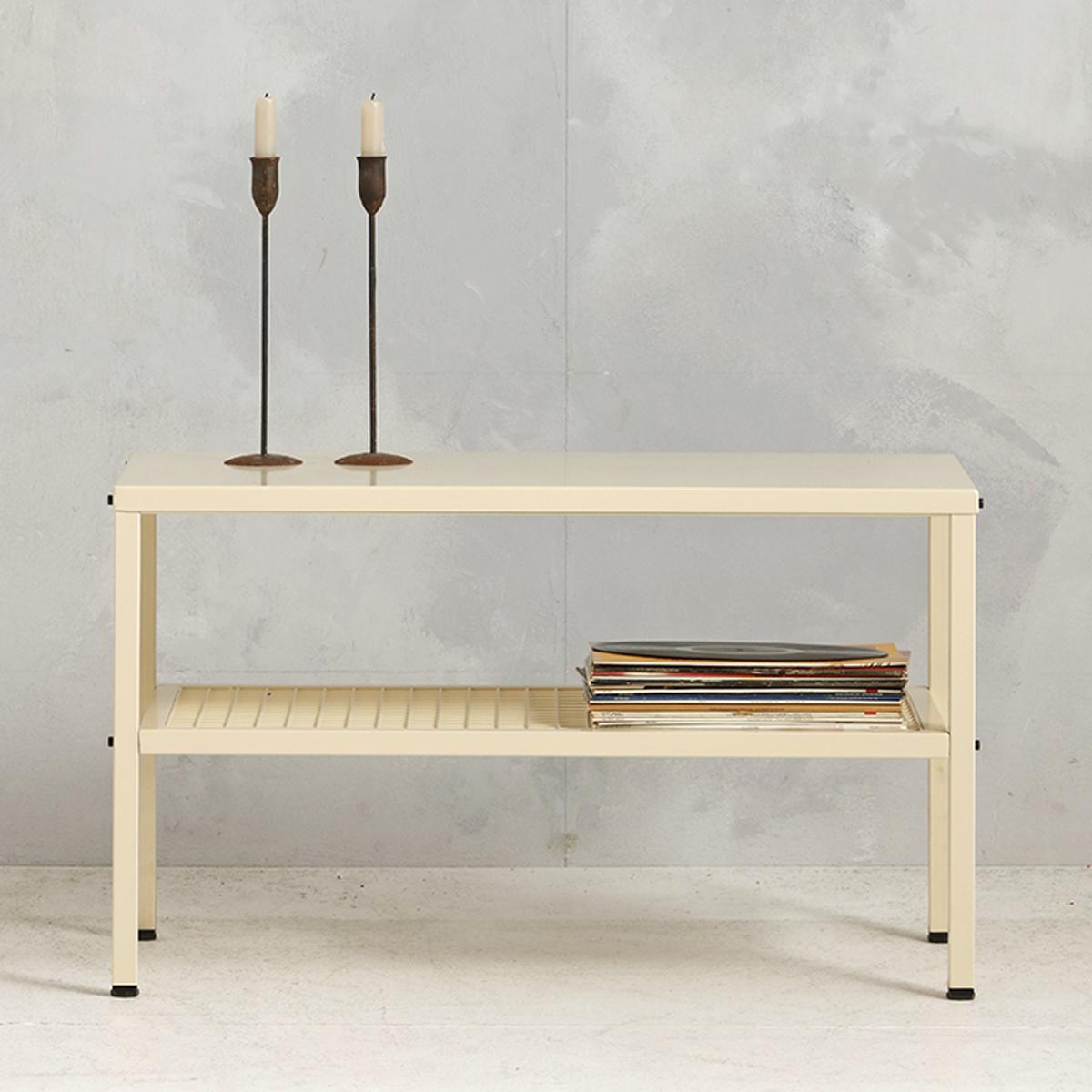 Metalen tafel industrieel - beige - 50.2x85.3x44,5 cm - LCS-110